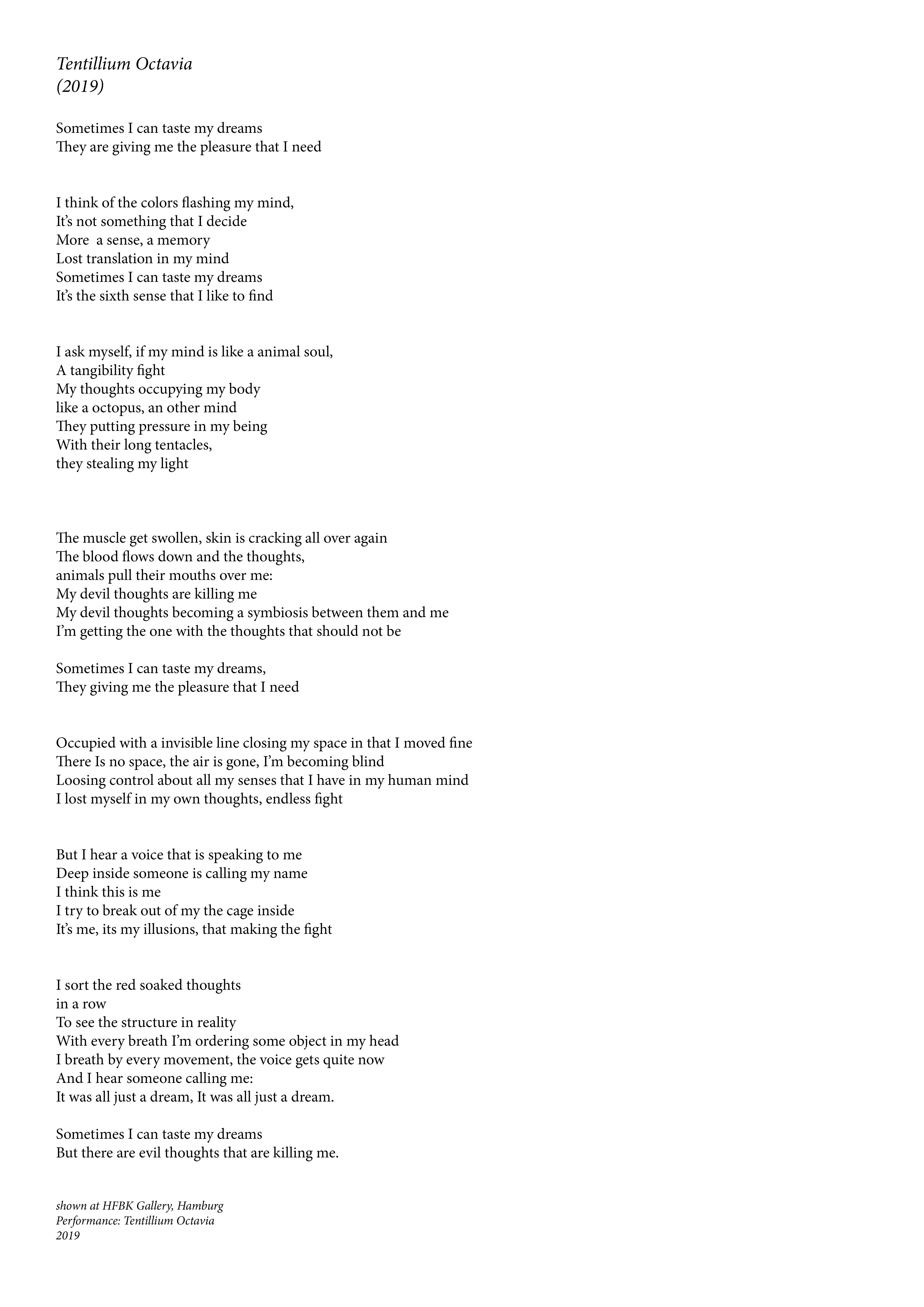 Julia Magdalene Rómas — Poetry
